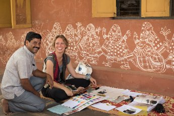 In gesprek met Jolijn Fiddelaers van IXXcreates en Karigar over haar smanewerking met Indiase partners bij het ontwerpen en ontwikkelen van textiel producten