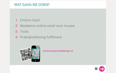 Here I come with Museumwebshops.nl Ellen Groenveld