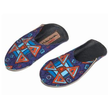 Blauwe slippers MukaCariza van Muka van Eyken
