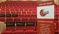 Female Wave of Change Global Kick Off in Da Vinci Zaal AFAS Hoofdkantoor Leusden