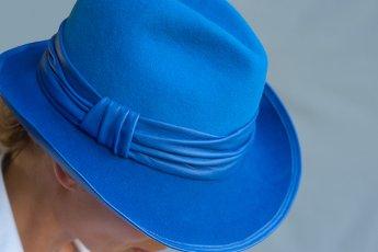 In gesprek met Wies Mauduit van hoedenatelier La plus belle ! Detail hoed Marlene