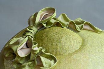 In gesprek met Wies Mauduit van hoedenatelier La plus belle ! Detail hoed Paquita