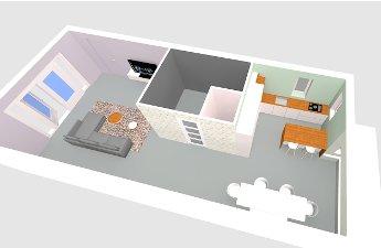 I'm a VIP at Toffel Interieuradvies van Sharon Kuipers, Watch out World, 3D Bovenaanzicht keuken