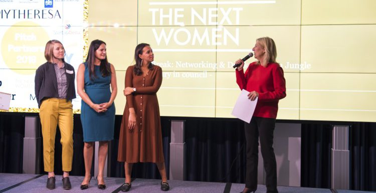 TheNextWomen Pitch Competitie 2018, Simone Brummelhuis, Award winaars en oprichtsters van Isbel &Co, Khaleelah Jones