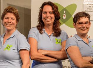 De dames van het Platform Burnout preventie bieden een luisterend oor en advies